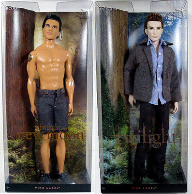BARBIE TWILIGHT SAGA  EDWARD & JACOB  DOLL LOT PINK LABEL werewolf vampire team on Rummage