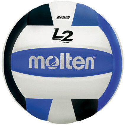 Molten L2 IVU-HS Volleyball - Black/White/Blue