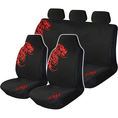 Dragon Seat Cover Pack RED Built IN Headrests Size 60 06H
