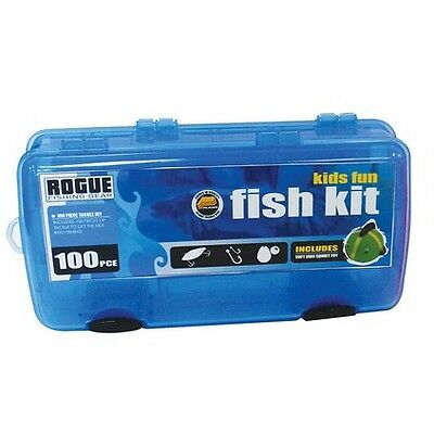 Plano kids tackle kit 100pce blue boating camping for Kids fishing kit