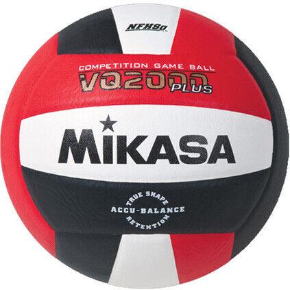 Mikasa VQ2000 Indoor Volleyball - Scarlet/White/Black