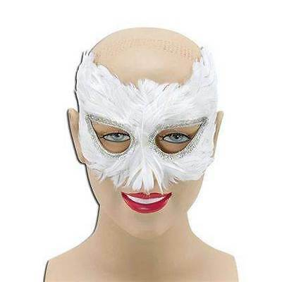 WHITE FEATHER-AUGENMASKE, MASQUERADE EYE MASK (Maskerade Feather Masken)