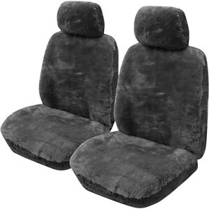 Gold cloud sheepskin seat covers slate adjustable for Motor sheep seat covers