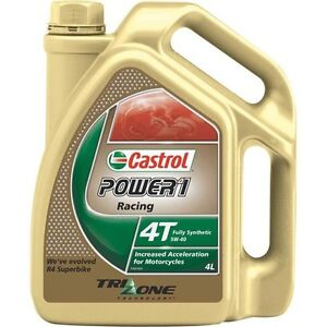 Castrol Power 1 Racing Motorcycle Oil - 5W-40, 4 Litre - Super Cheap Auto