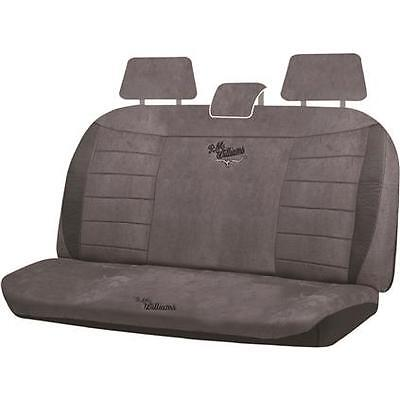 R M Williams Suede Velour Seat Covers Grey Adjustable
