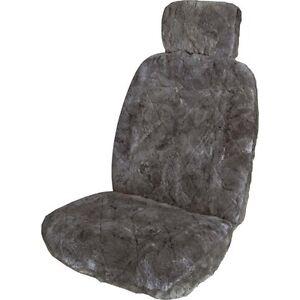 SCA Sheepskin Seat Cover Charcoal Single Super Cheap Auto