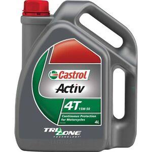 Castrol Activ 4T Motorcycle Oil - 15W-50, 4 Litre - Super Cheap Auto