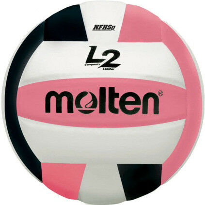 Molten L2 IVU-HS Volleyball - Black/White/Pink