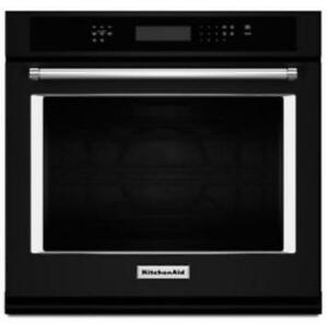 """KITCHENAID NEW KOSE500EBL 30"""" SINGLE, 5.0 CU FT., TRUE CONVECTION,  SELF CLEAN, FIT SYSTEM, SINGLE WALL OVEN(BD-1537)"""