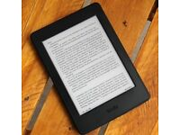 *Like new* Amazon Kindle Paperwhite e-reader inc. Waterstones Leather case