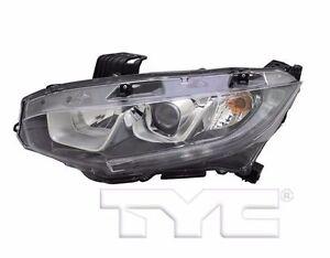 TYC NSF Left Side Halogen Headlight For Honda Civic None Touring 2016-2017 Model