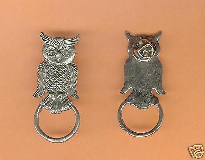 6 wholesale pewter owl eyeglass holder pins C3124