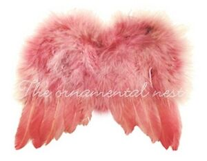 Precious Baby Pink Angel Wings Feather Tree Easter Christmas Ornament Decoration