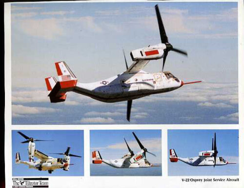 Lot of 6 Helicopter Lithograph Photo Collection