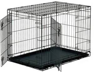 """Collapsible Metal Dog Crate 24"""""""
