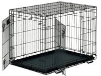XL Metal Wire Dog Crate with Metal Tray