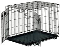 XL Black Dog Cage, with Bottom Tray, Good Condition