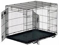 Extra Small Dog Crate - 60cmx45cmx45cm Black Wire