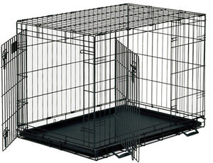 Large 2 door collapsible dog kennel / crate
