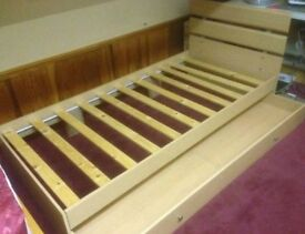ARGOS SINGLE BED with underbed storage- good as new