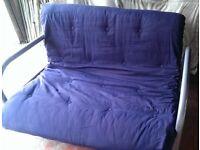 Futon sofa bed metal framed