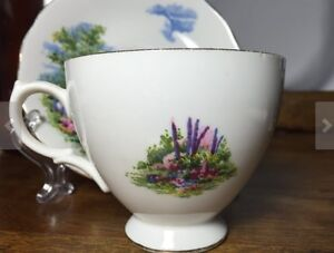 """1950's Royal Vale """"Country Cottage"""" tea cup and saucer Peterborough Peterborough Area image 3"""
