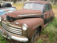 1941-1948 Ford or Mercury Coupe WANTED full car and parts cars