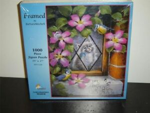 1000 Piece Puzzle - larger pieces  Kitten in a window