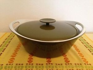 BLUE & GREEN LARGE COPCO ENAMELLED DUTCH OVEN FROM DENMARK