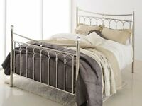 Bensons for Beds Stunning Chrome and Crystal Double Bedframe