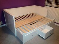 Ikea White single bed