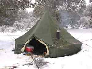 Looking for canvas army tent stove ready