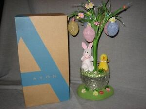 NIB AVON BLOSSOM FIBER OPTIC EASTER TREE WITH, LIGHTS