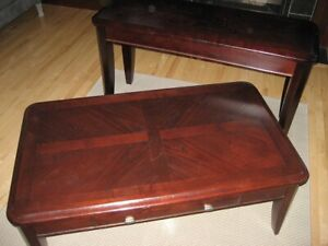 Two matching accent coffee and side tables