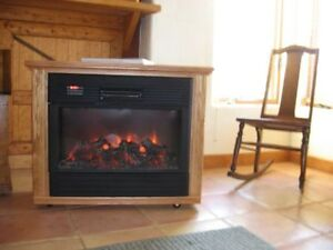 Amish Portable Electric Fireplace Heater - Brand New