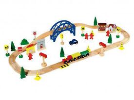 wood train set