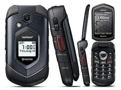 Kyocera DuraXV LTE E4610 4G LTE Flip Black (Verizon)Rugged Cell Phone(Page Plus) Black Verizon Cell Phone