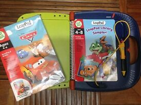 LeapFrog LeapPad Learning System with Library Sample Book and Disney Pixar Cars Book