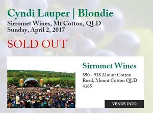 SOLD OUT - 2 TICKETS FOR SALE Cyndi Lauper/Blondie Sirromet Wines Carina Brisbane South East Preview