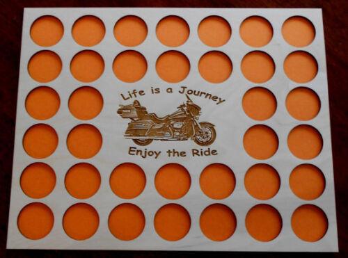 36 Poker Chip Display Frame Insert Fits Harley Davidson/Casino Motorcycle #18