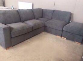 Designer Corner Sofa & Footstool