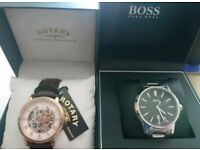 2 quality as new boxed watches