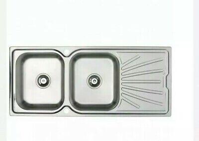 @ Astracast Korona 2.0 Bowl Stainless Steel Kitchen Sink Reversible Twin :39 Astracast Kitchen Sink