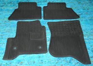 Set of 4 GMC Rubber Floor Mats