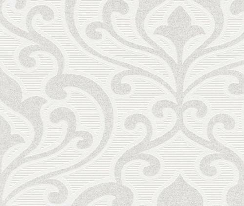 tapete barock weiss silber ebay. Black Bedroom Furniture Sets. Home Design Ideas
