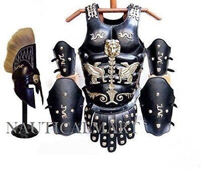 Armour Roman Leg (Roman Leather Muscle Armour Cuirass W/ Corinthian Helmet , Leg & Arm Guard Set )