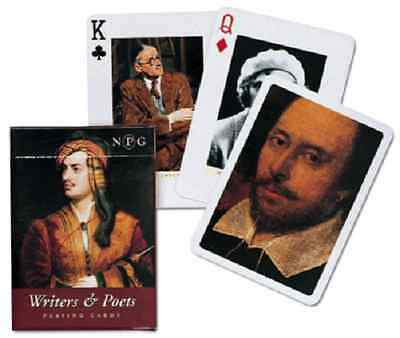 Playing Cards Writers and poets Piatnik Each Card is Different Non-Standard