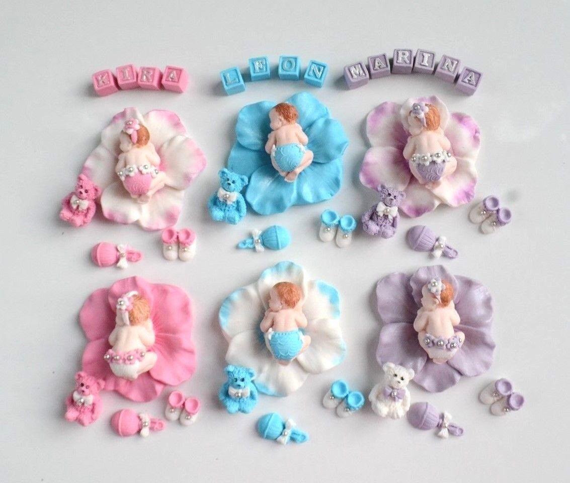 Baby Fondant Zuckerfigur Taufe Geburt Tortenaufleger Tortendekoration Kuchen