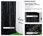 Black Fringe Curtain