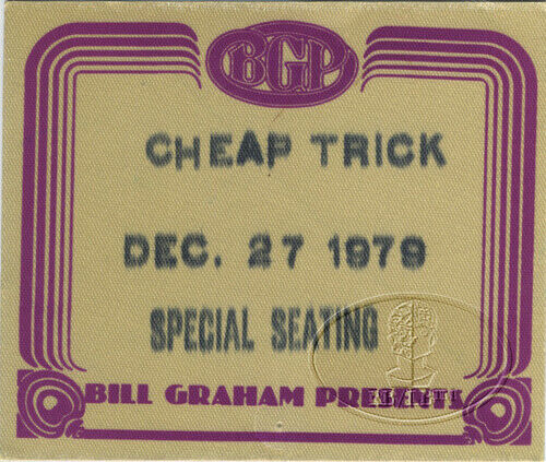 CHEAP TRICK 1979 DREAM POLICE Tour Backstage Pass
